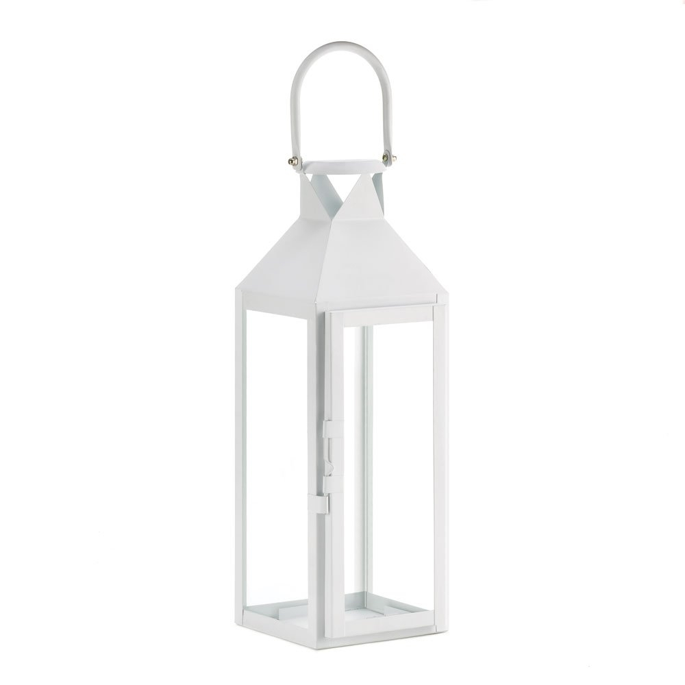 White Lanterns Candle, Decorative Wrought Outdoor Metal Candle With Regard To White Outdoor Lanterns (View 17 of 20)