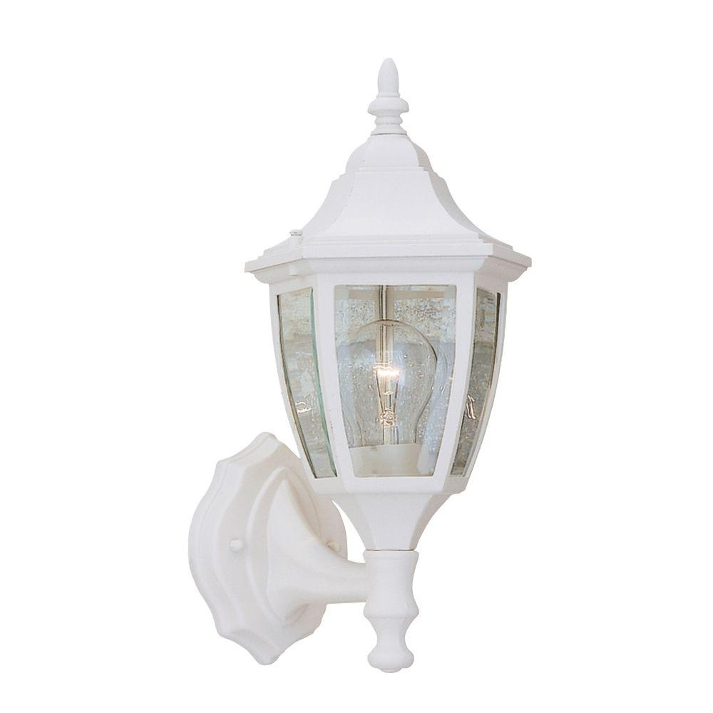 White – Outdoor Lanterns – Designers Fountain – Outdoor Wall Mounted Throughout Resin Outdoor Lanterns (View 12 of 20)