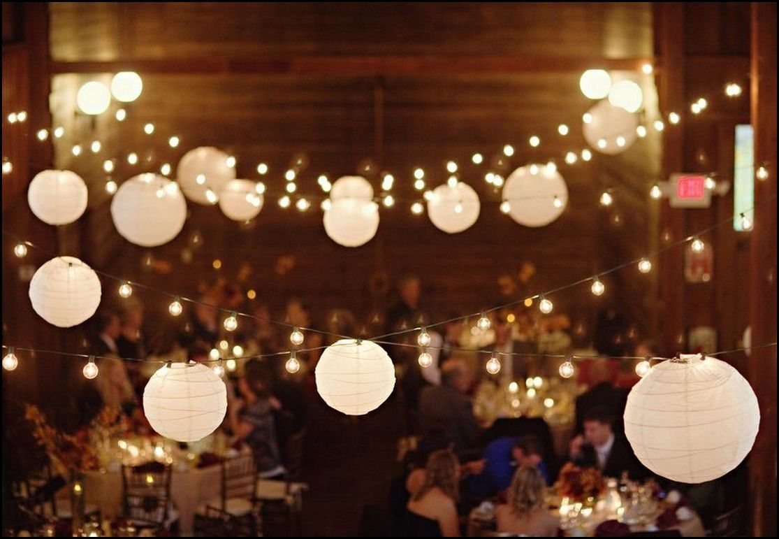 White Paper Lantern String Lights | Outdoor And Garden Gallery Ideas With Regard To Outdoor Nylon Lanterns (Photo 1 of 20)