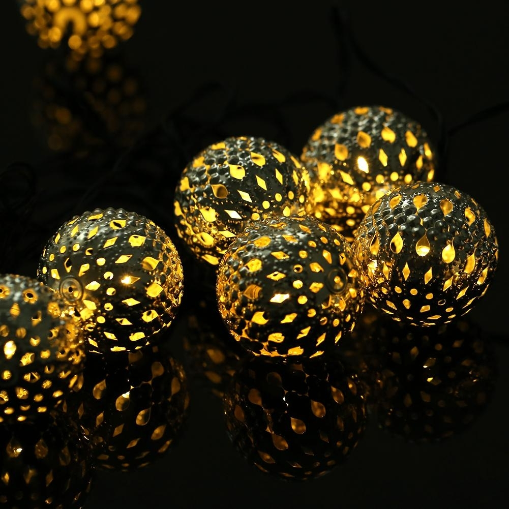 Wholesale Led Moroccan Ball String Lights Solar Waterproof Outdoor in Outdoor Ball Lanterns (Image 20 of 20)