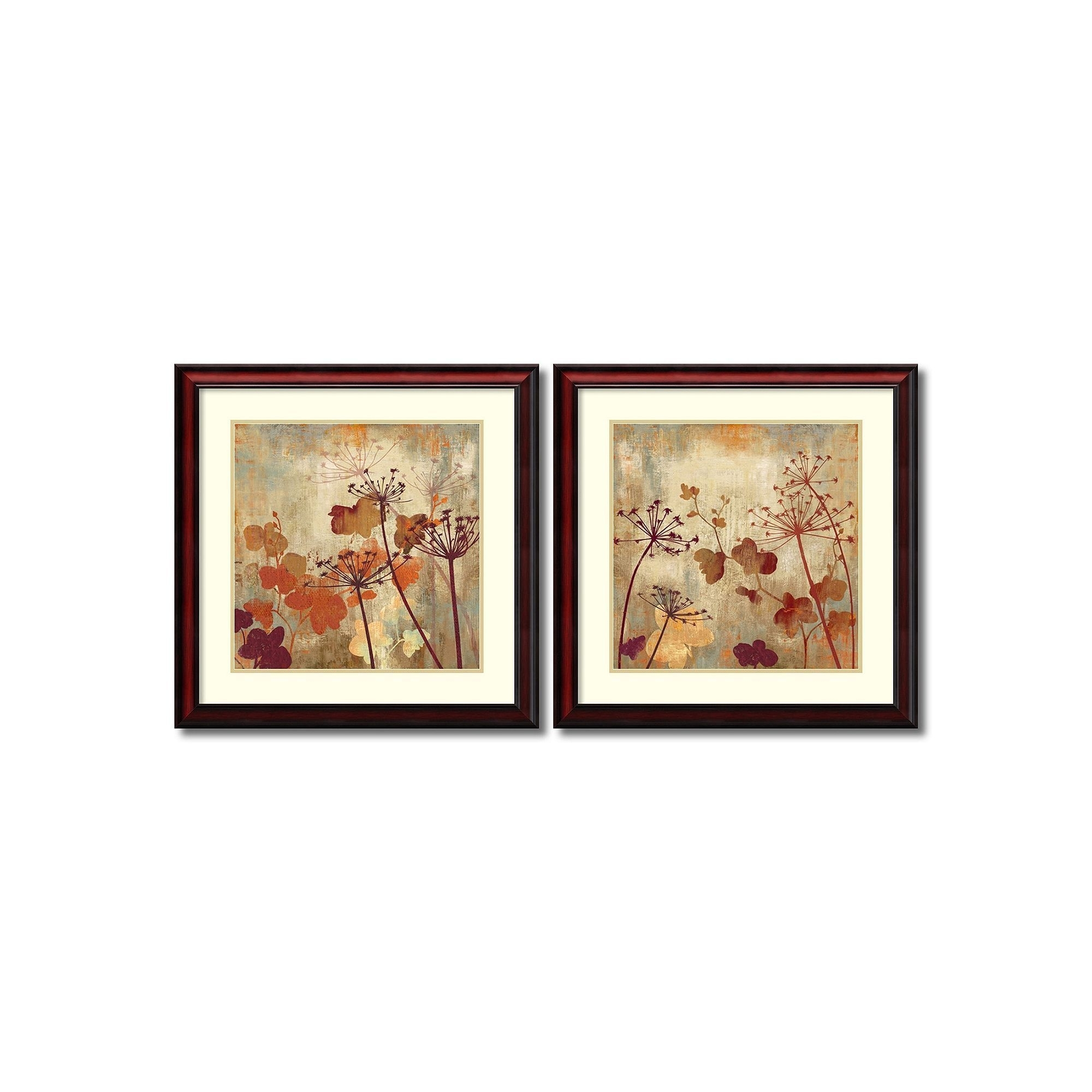 Wild Field'' Floral 2 Piece Framed Wall Art Set, Brown | Products For Set Of 2 Framed Wall Art (Photo 8 of 20)