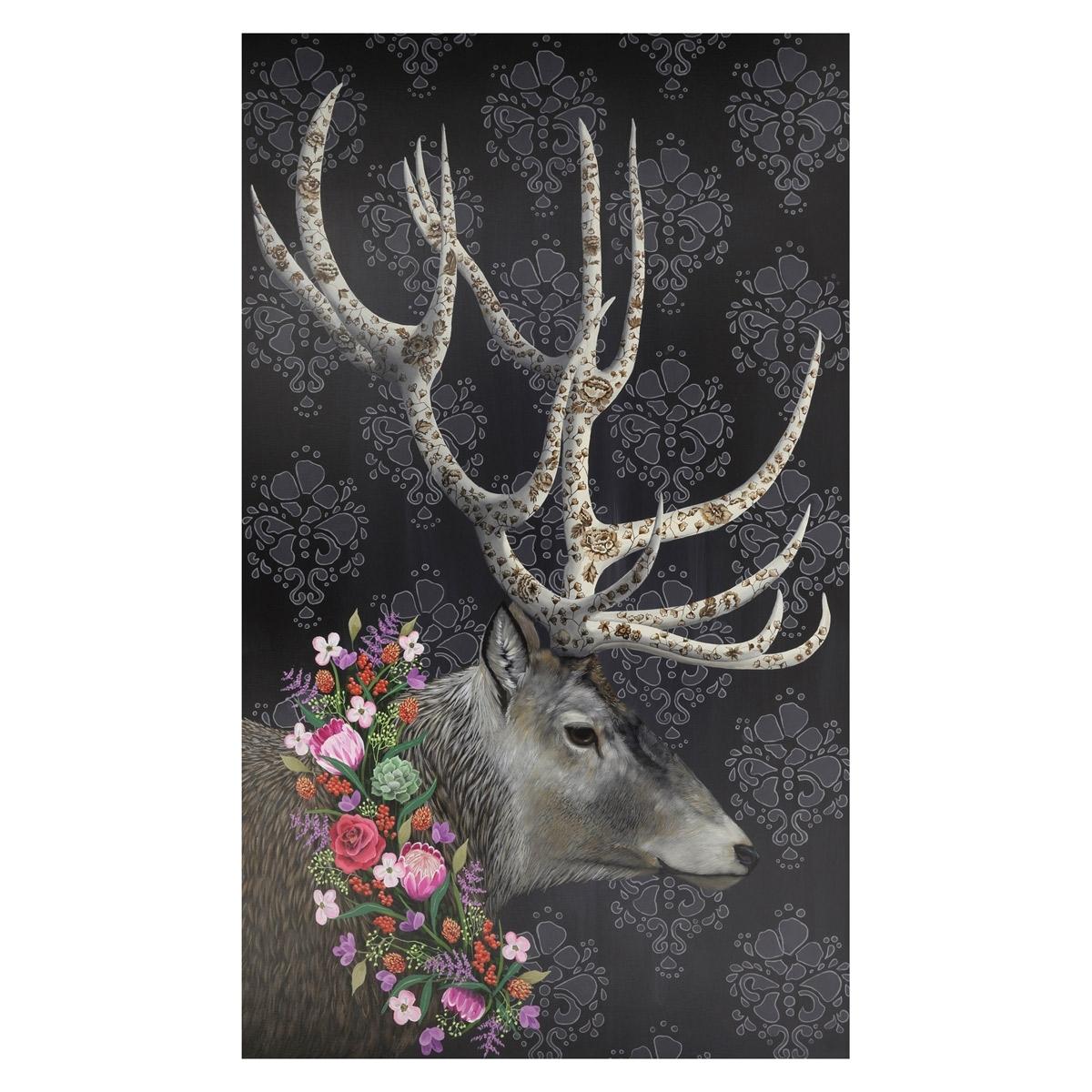 Wildflower Deer Canvas Wall Art   24 X 40 Regarding Deer Canvas Wall Art (Photo 10 of 20)