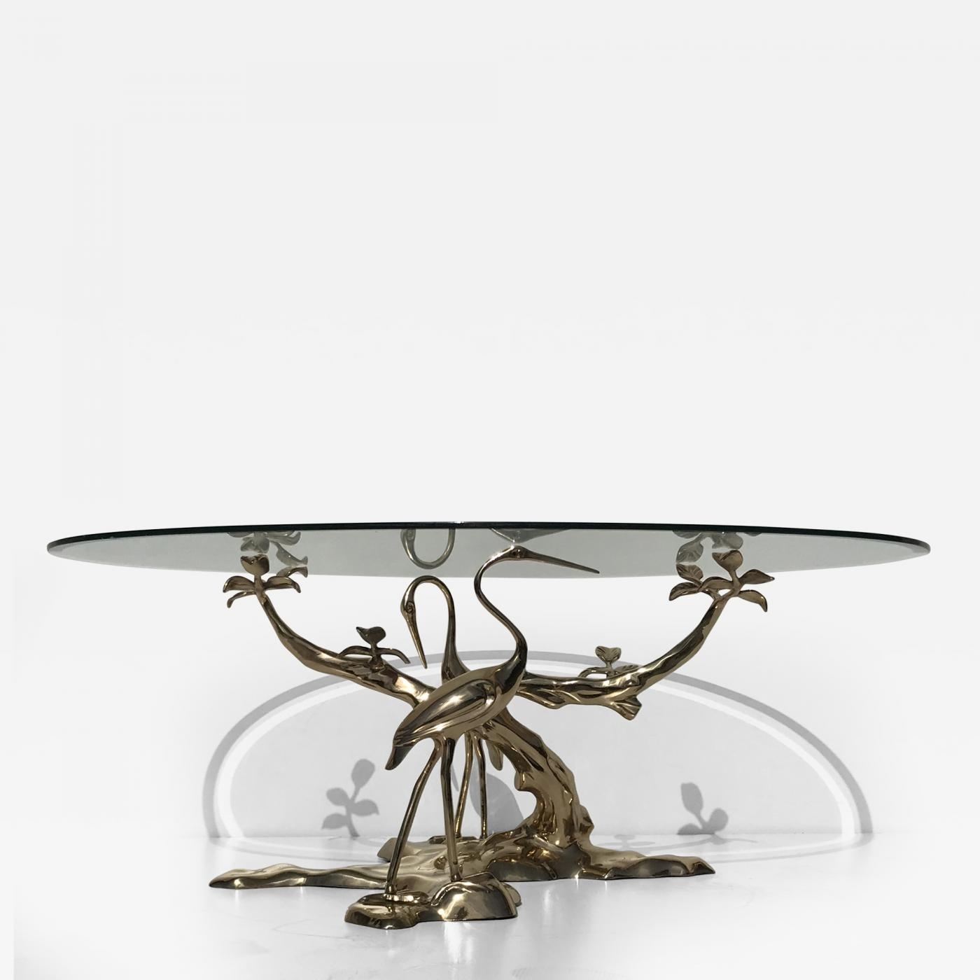 Willy Daro - Willy Daro Brass Tree Coffee Table inside Cacti Brass Coffee Tables (Image 29 of 30)