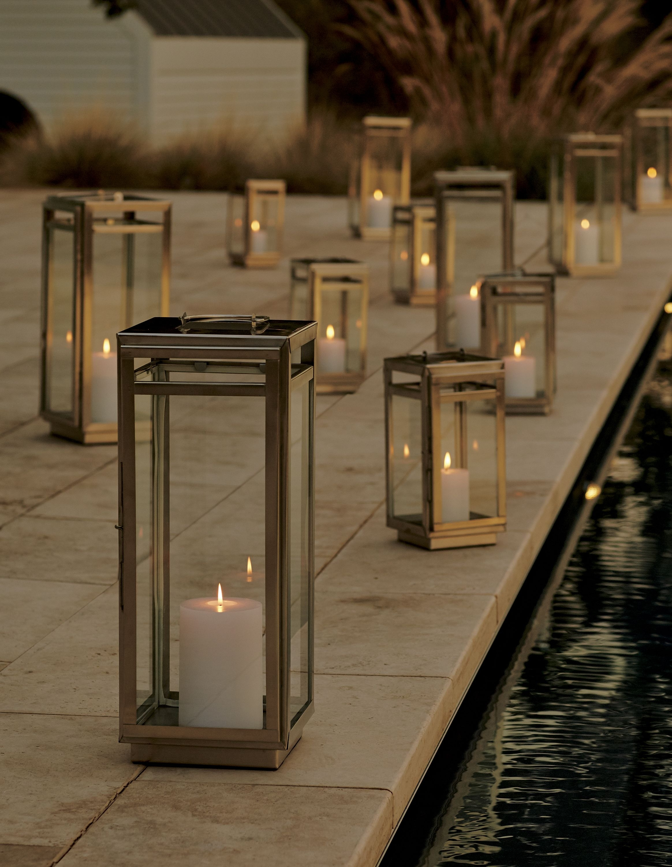 Windowpane Lanterns Let It Shine In Handcrafted Steel With A Modern Within Modern Outdoor Lanterns (Photo 17 of 20)