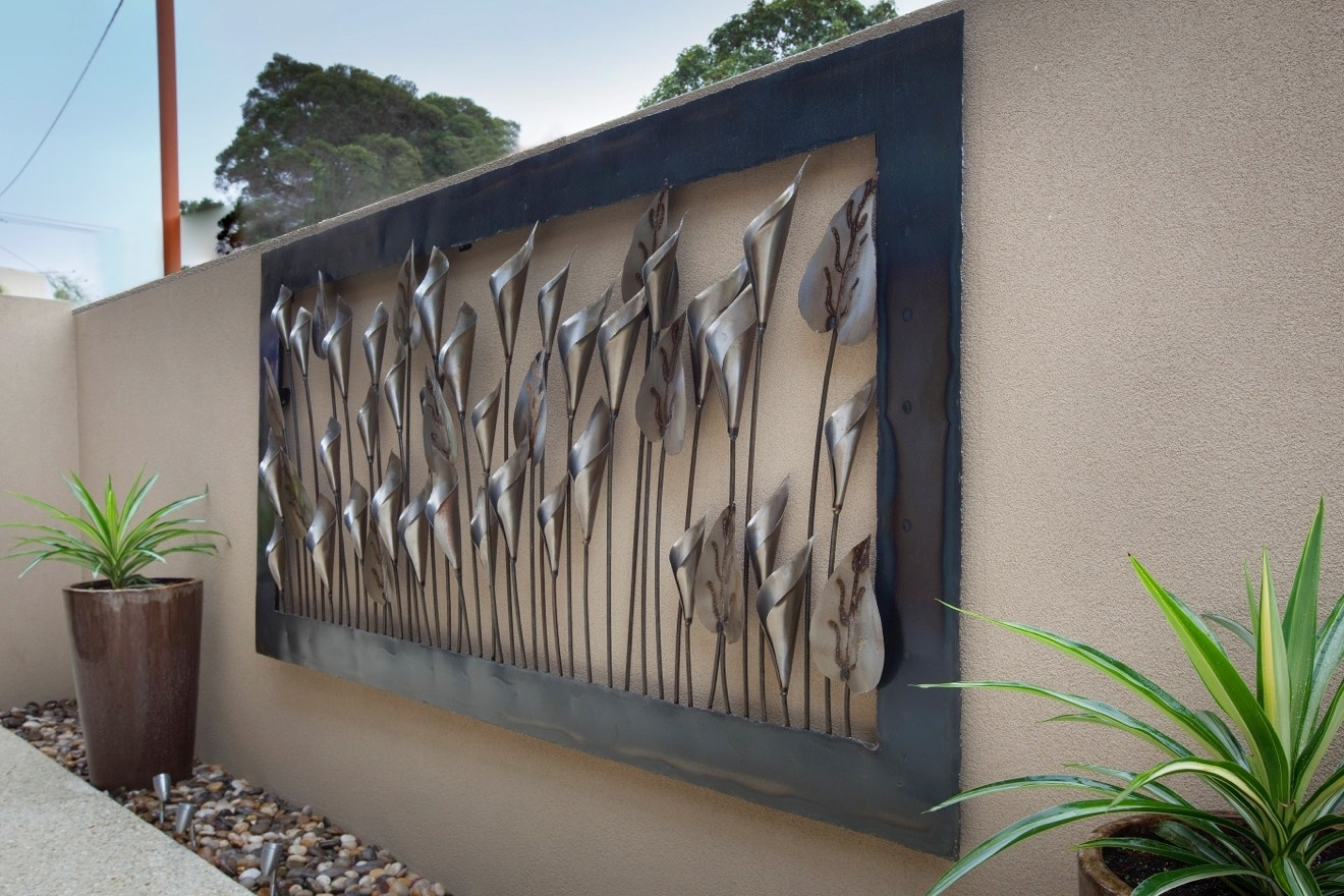 Winsome Outdoor Pine Tree Metal Wall Art Decor Decorative Metal Wall in Outdoor Metal Wall Art (Image 19 of 20)