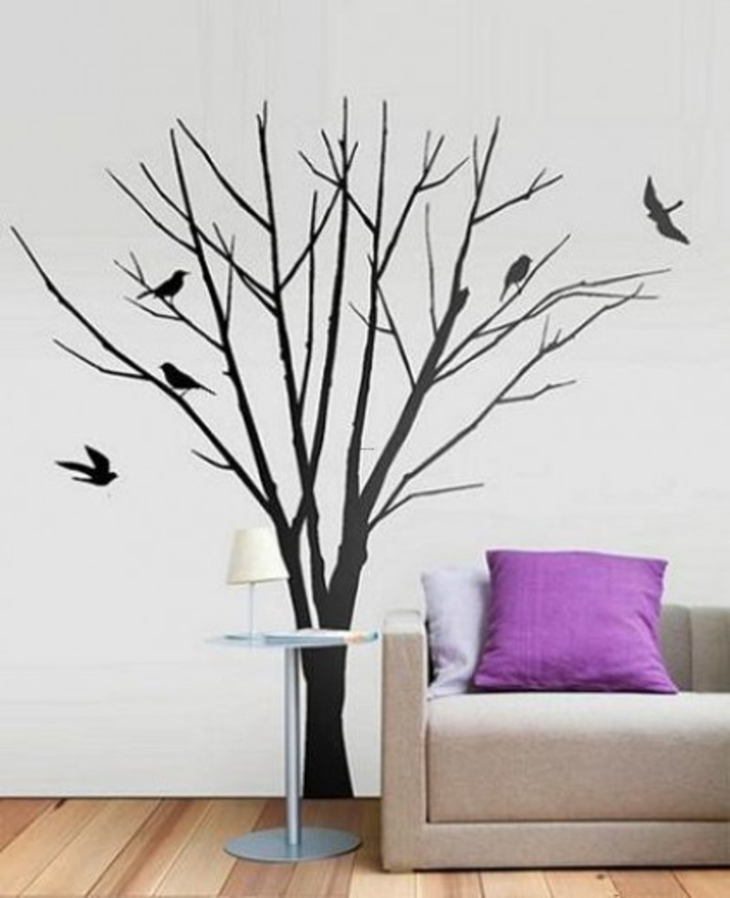 Winter Tree Wall Art Sticker Decal / Design Bookmark #10511 pertaining to Tree Wall Art (Image 20 of 20)