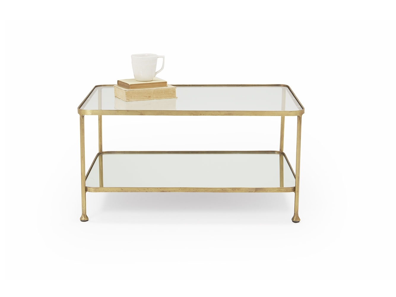 Wonder Boy Coffee Table | Brass And Glass Coffee Table | Loaf Throughout Rectangular Brass Finish And Glass Coffee Tables (Photo 7 of 30)