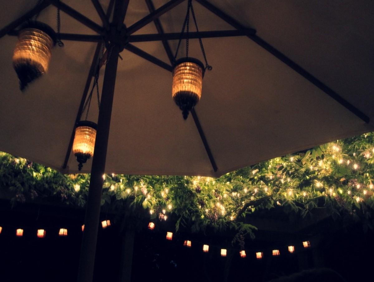 Wonderful Patio Umbrella Lights Umbrella Lights Solar And Patio On Pertaining To Outdoor Umbrella Lanterns (View 19 of 20)