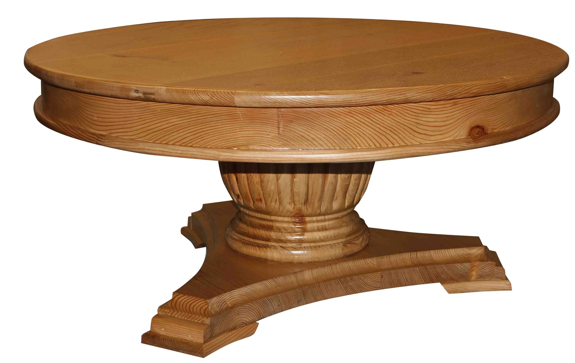 Wonderful Round Coffee Table Design Inspiration Come With Fluted Regarding Round Carved Wood Coffee Tables (Photo 22 of 30)