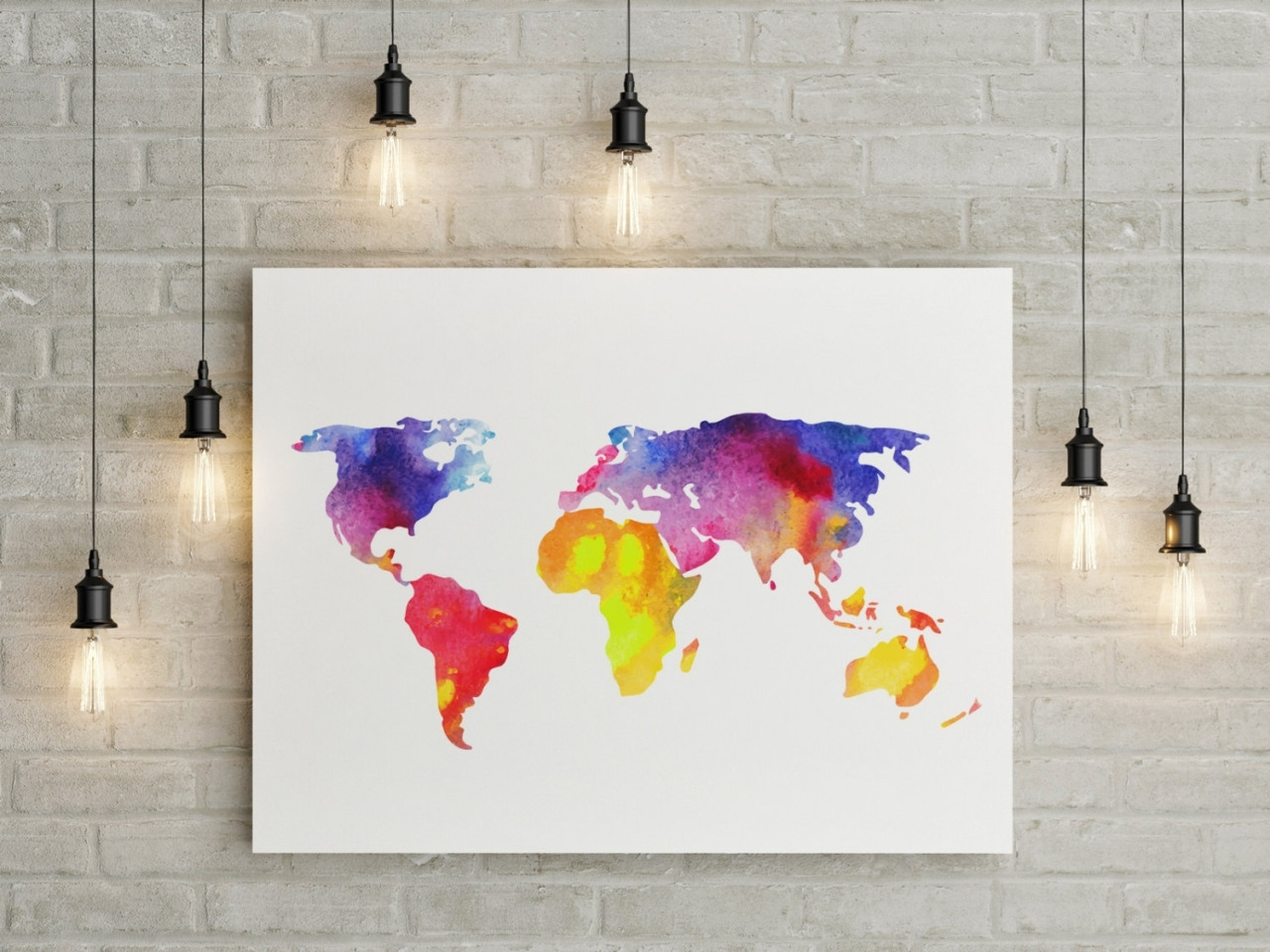Wondrous How To Create A World Map Wall Art To Gray World Map World Pertaining To World Map Wall Art Canvas (View 13 of 20)
