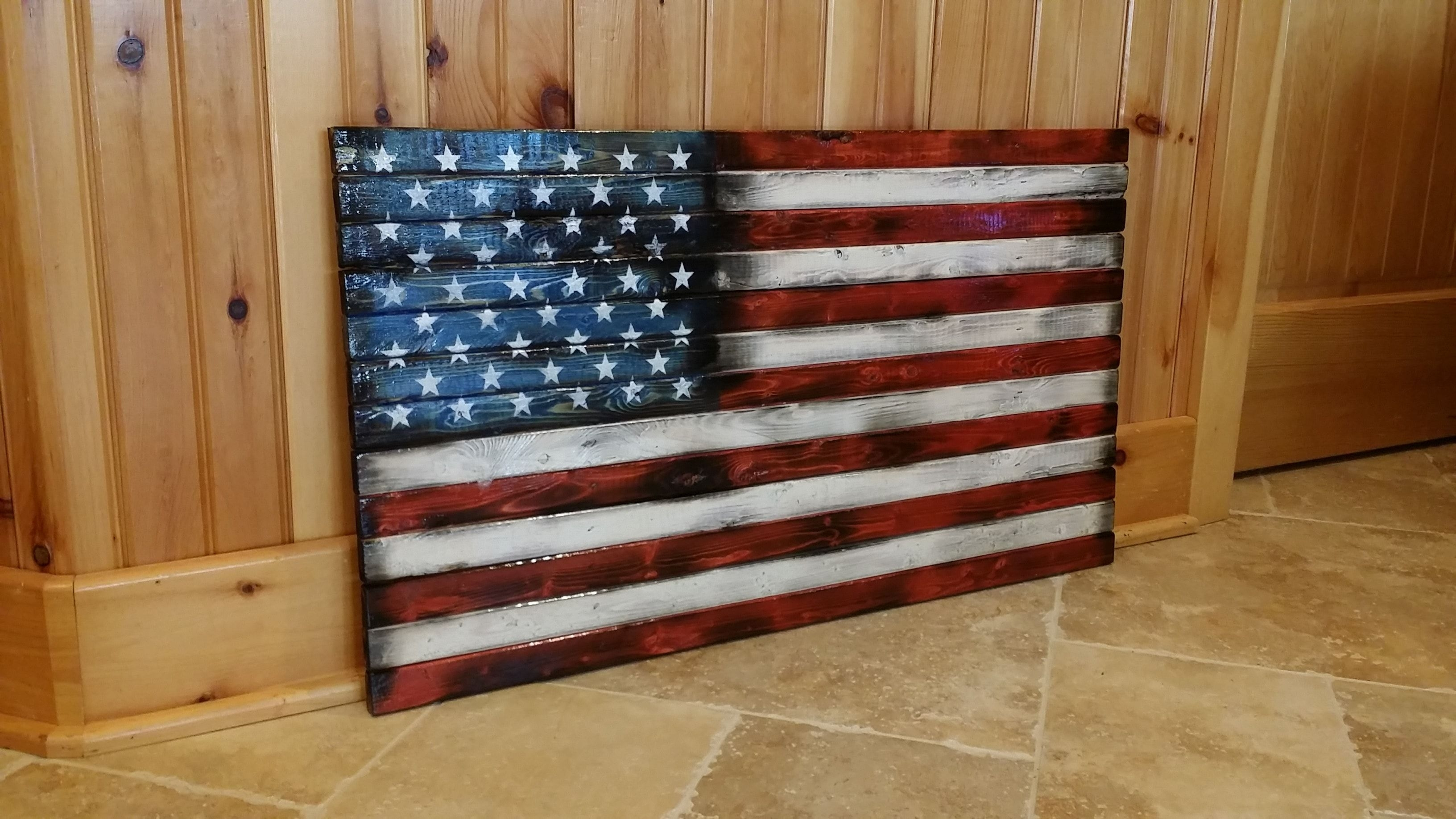 Wood American Flag Wall Art Décor. This Thing Is Absolutely Gorgeous Intended For Wooden American Flag Wall Art (Photo 16 of 20)