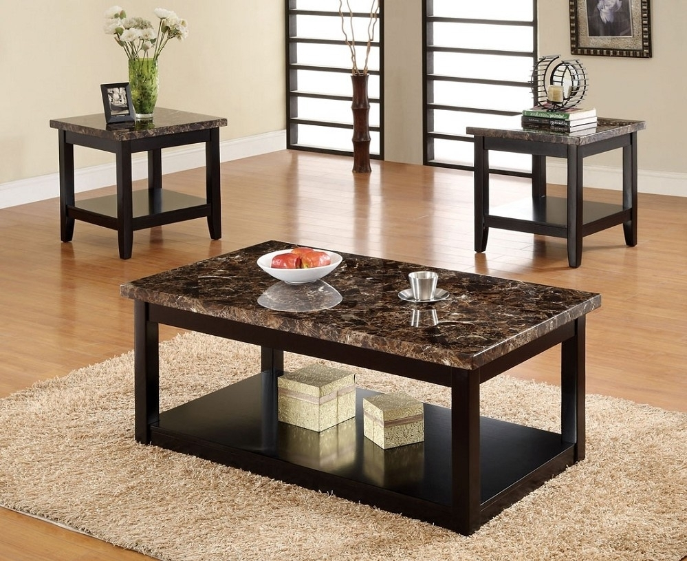 Wood And Marble Coffee Table - Coffee Table Ideas with Alcide Rectangular Marble Coffee Tables (Image 30 of 30)