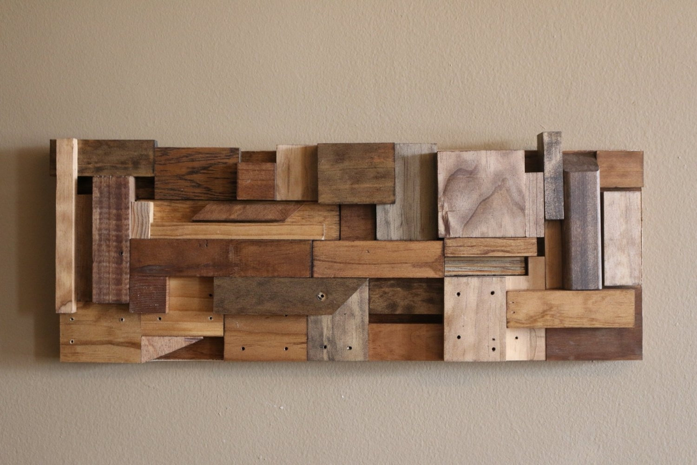 Wood Block Wall Art Interior Diy Wood Art Diy Scrap Wood Wall Art Throughout Diy Wood Wall Art (Photo 18 of 20)