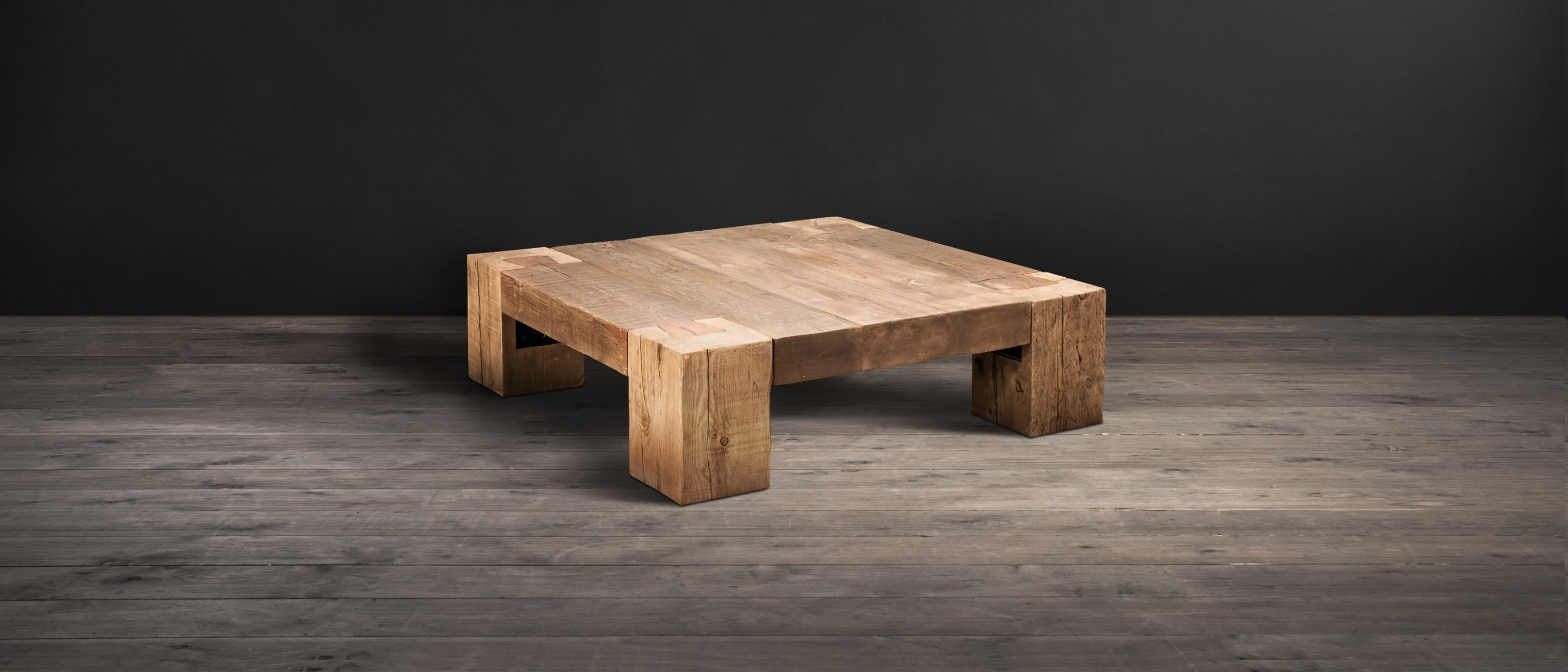 Wood Coffee Tables - English Beam | Timothy Oulton with Mill Large Coffee Tables (Image 29 of 30)