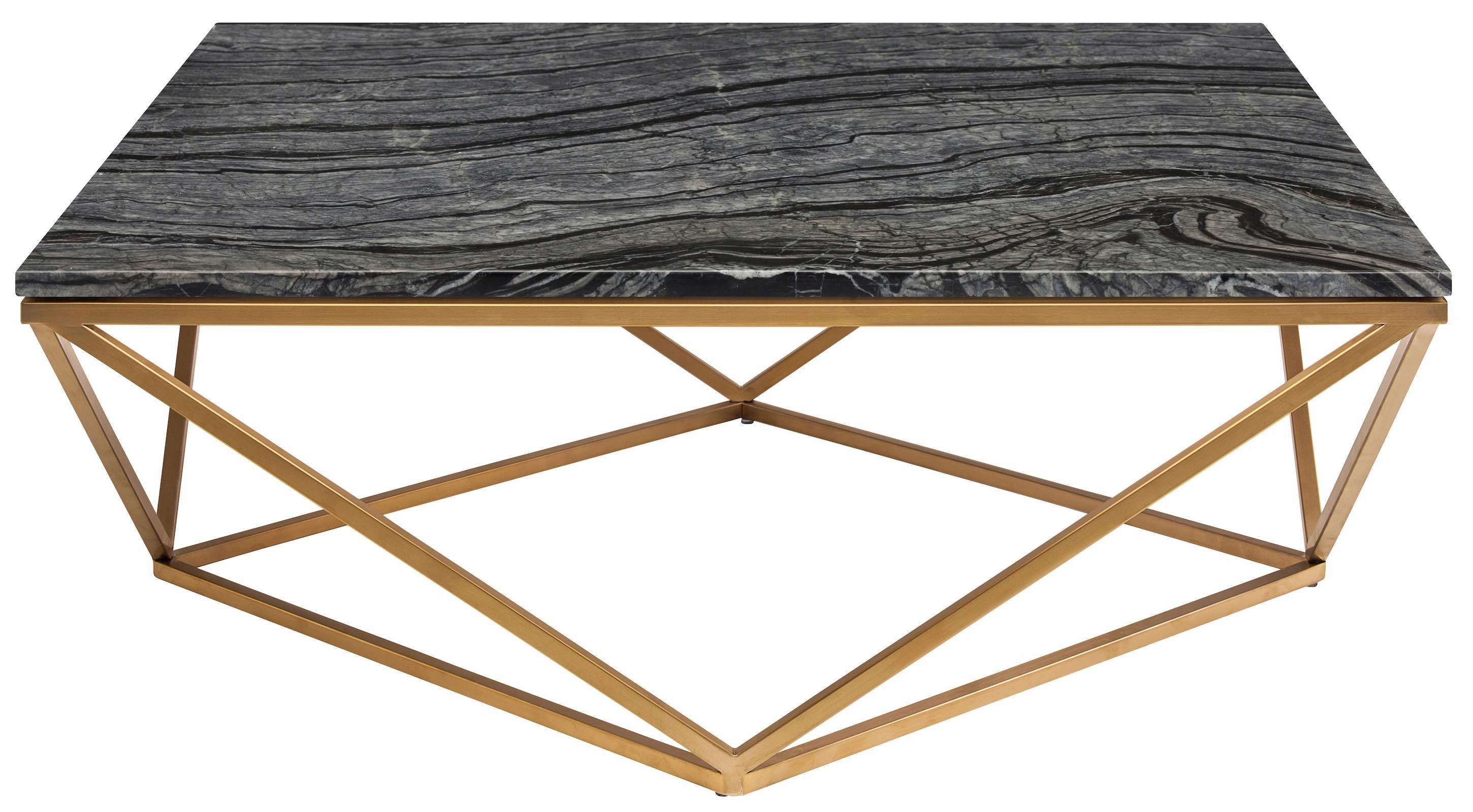 Wood Marble Coffee Table - Coffee Table Ideas intended for Intertwine Triangle Marble Coffee Tables (Image 30 of 30)