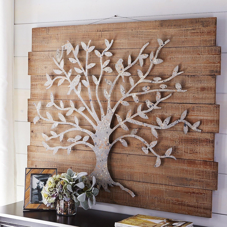 Wood Metal Wall Art Timeless Tree Wall Decor | Pier 1 Imports Regarding Wood And Metal Wall Art (Photo 2 of 20)