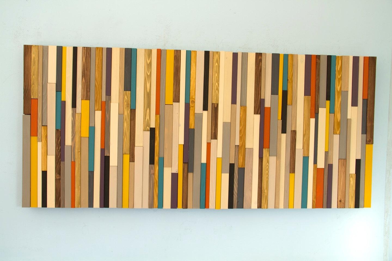 Wood Piece Wall Art Mid Century Wall Art, Reclaimed Wood Art Regarding Mid Century Wall Art (View 13 of 20)