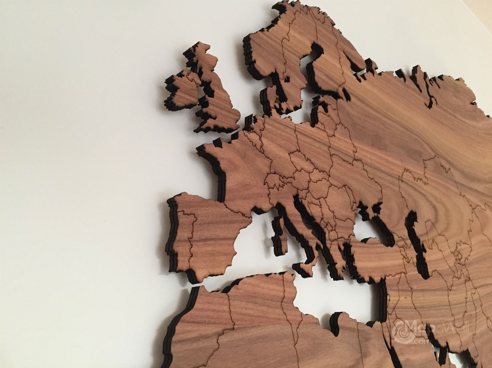 Wood Wall Art Large World Map Wooden Decor Feerick. Map Of Decor For World Map Wood Wall Art (Photo 4 of 20)