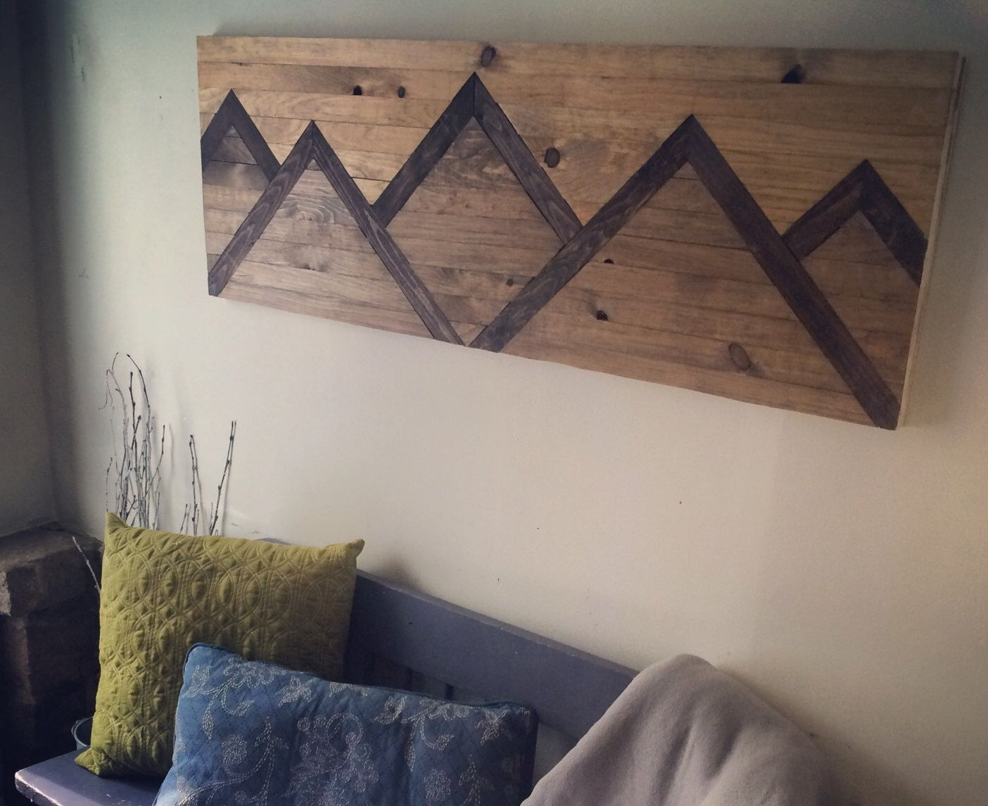 Wood Wall Art Mountain Range | Home: Wall Art | Pinterest | Wood With Regard To Diy Wood Wall Art (Photo 1 of 20)