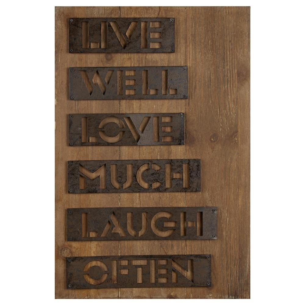 Wood Wall Art With Metal Accents/metal Wall Decor/wall Decor Intended For Wood And Metal Wall Art (Photo 10 of 20)