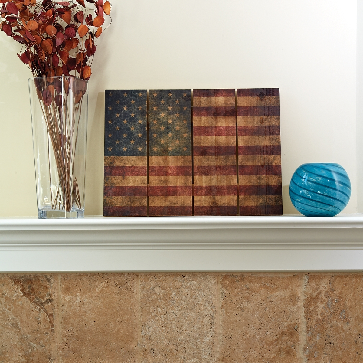 "Wooden American Flag Wall Art (22"" X 16"")   From Sportys Preferred Throughout Wooden American Flag Wall Art (Photo 4 of 20)"