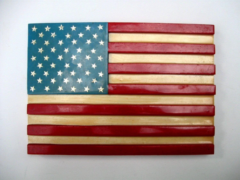 Wooden American Flag Wall Art   Elitflat Pertaining To Wooden American Flag Wall Art (Photo 20 of 20)