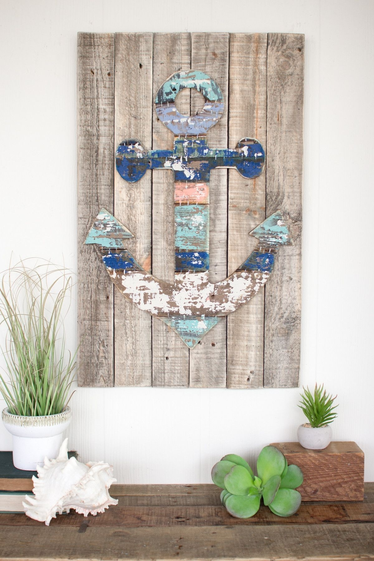 Wooden Anchor Wall Art | Crafts | Pinterest | Anchor Wall Art, Walls with Anchor Wall Art (Image 20 of 20)