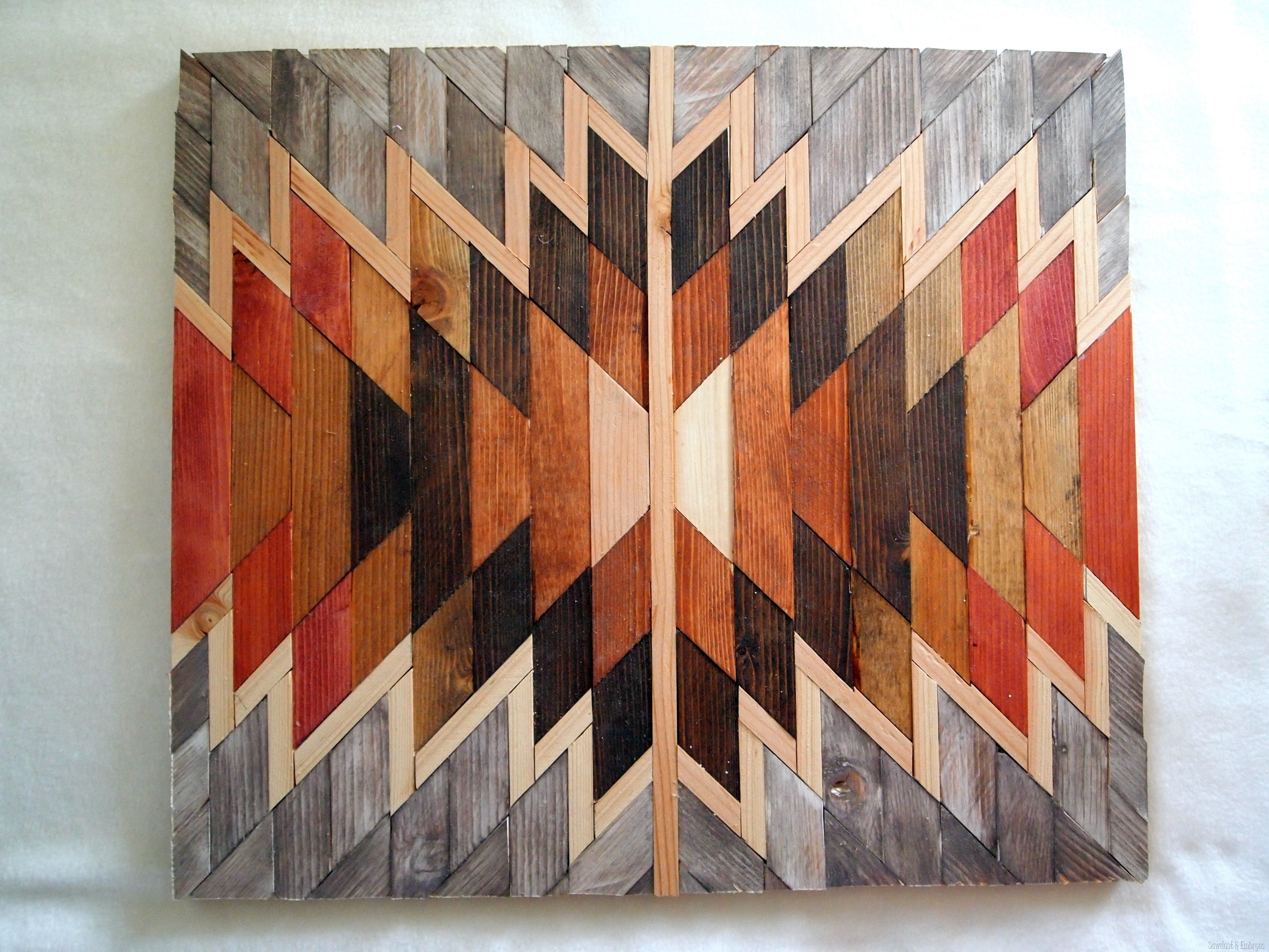 Wooden Kilim Wall Art Sawdust And Embryos, Native American Wall Art In Native American Wall Art (View 5 of 20)