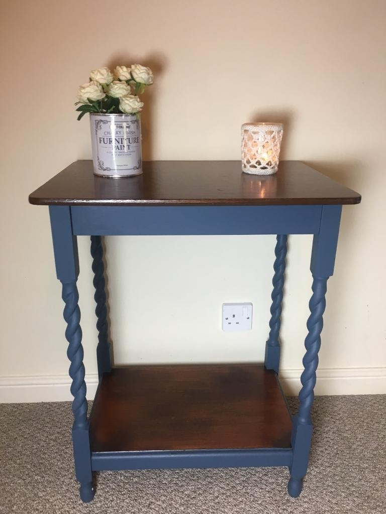 Wooden Side / Coffee Table With Barley Twist Legs - Shabby Chic within Barley Twist Coffee Tables (Image 30 of 30)