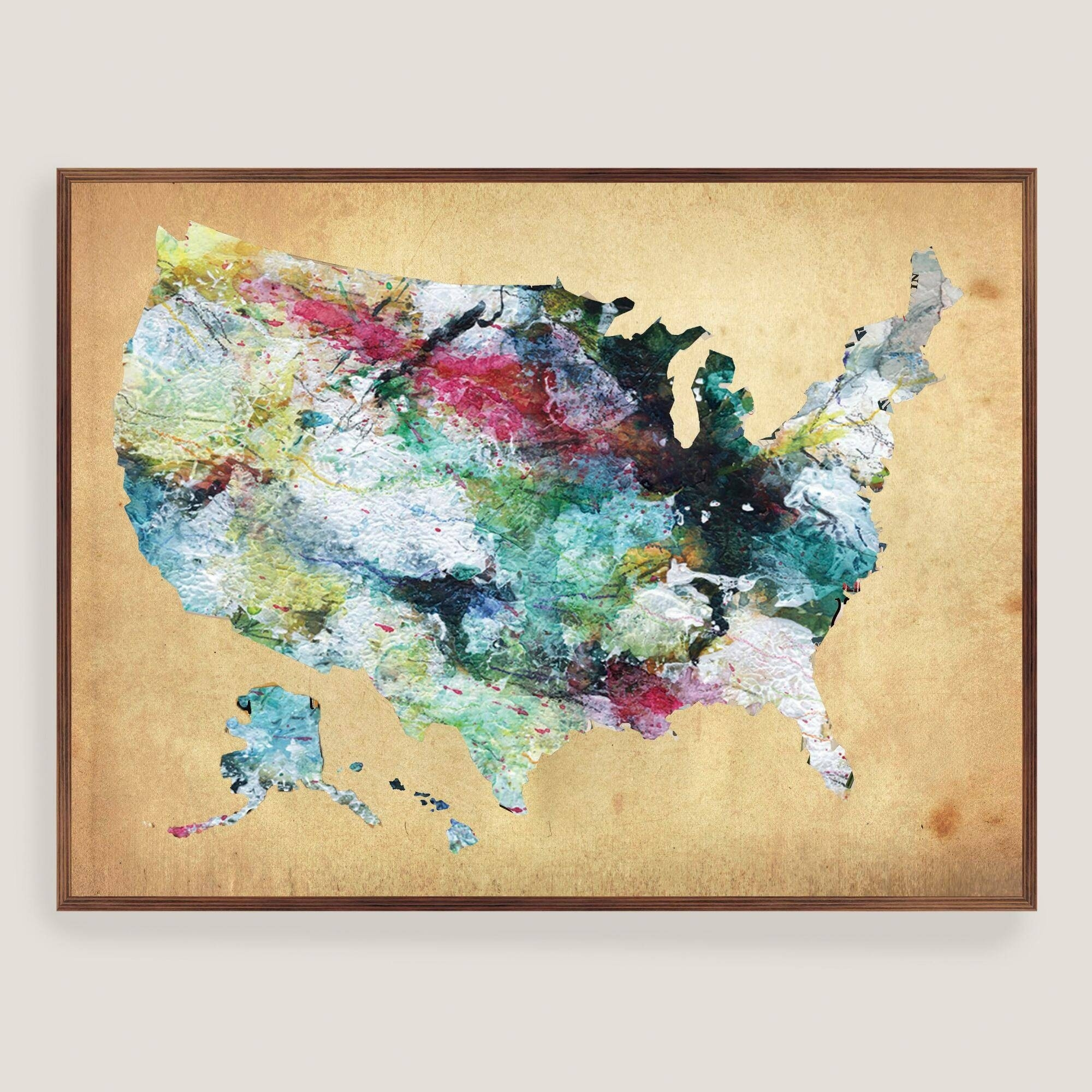Wooden Wall Hanging Map Of Us Wooden Usa Map Wall Art Delightful intended for Usa Map Wall Art (Image 19 of 20)
