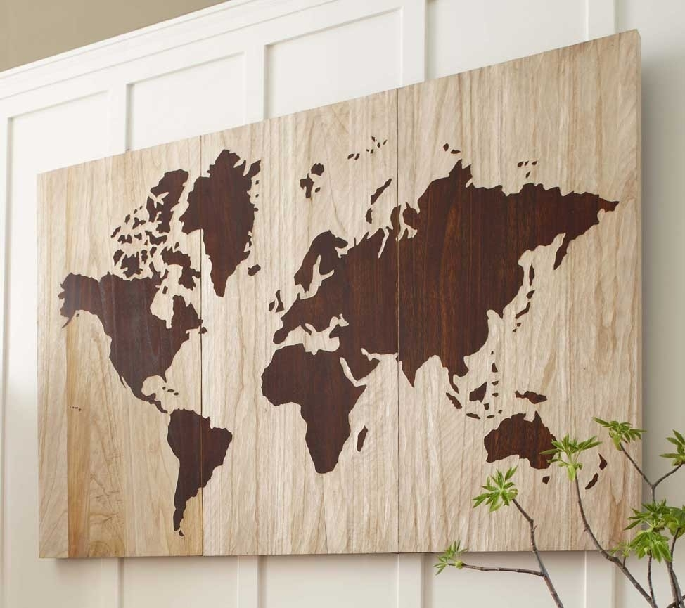 World Map Art Wood Images, Wood Map Wall Art - Swinki Morskie with regard to Maps Wall Art (Image 13 of 20)