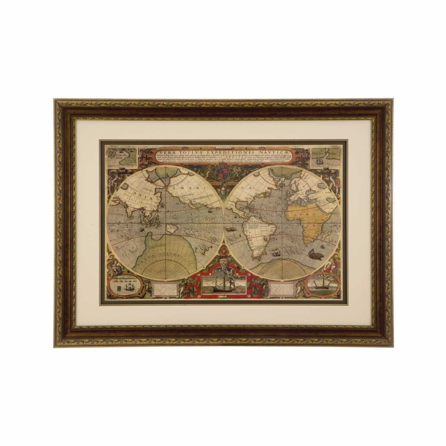 World Map Framed Art Framed World Map Wall Art – Anotherview For World Map Wall Art Framed (Photo 13 of 20)
