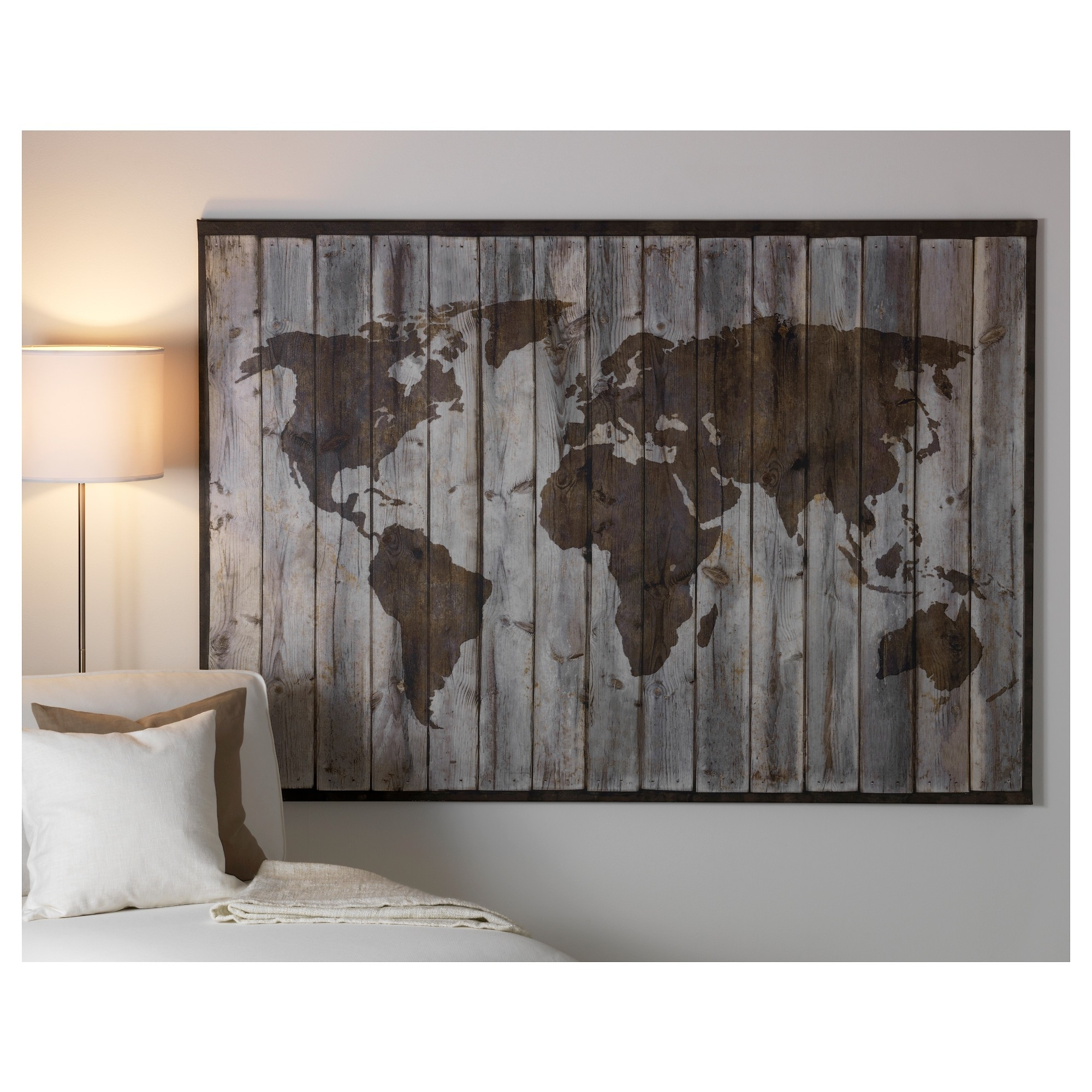 World Map Poster Ebay Best Posters Wall Art Ikea World Map Canvas throughout Ikea Wall Art (Image 19 of 20)