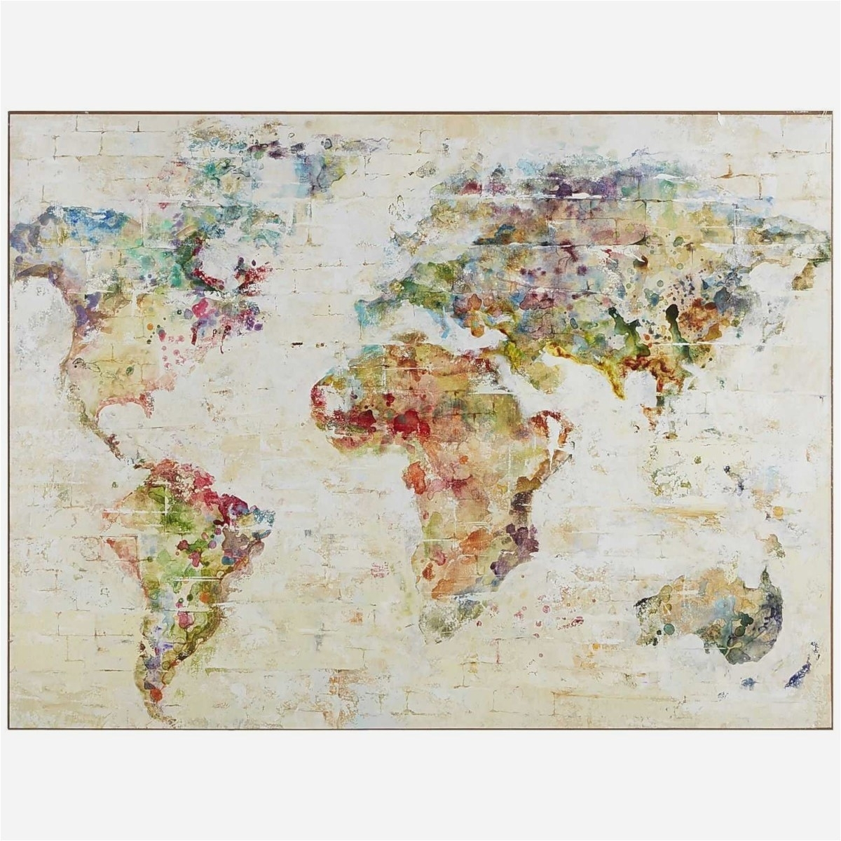 World Map Wall Art Canvas Unique 27 New World Map Decor Example Pertaining To World Map Wall Art Canvas (View 14 of 20)