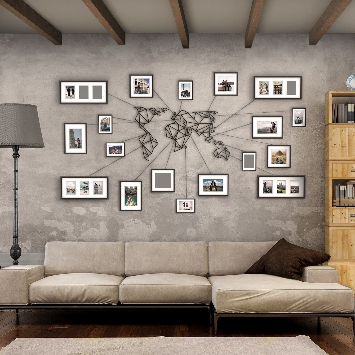 World Map Wall Art   Link Italia With Regard To World Map For Wall Art (Photo 20 of 20)