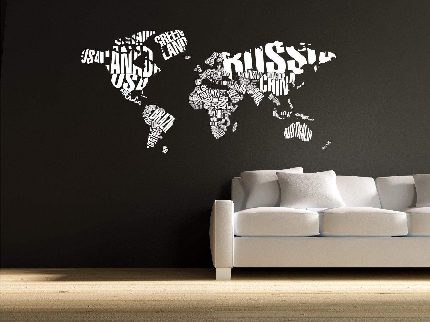 World Map Wall Decor Wall Vintage World Maps For Wall Decoration With Regard To Vinyl Wall Art World Map (Photo 8 of 20)