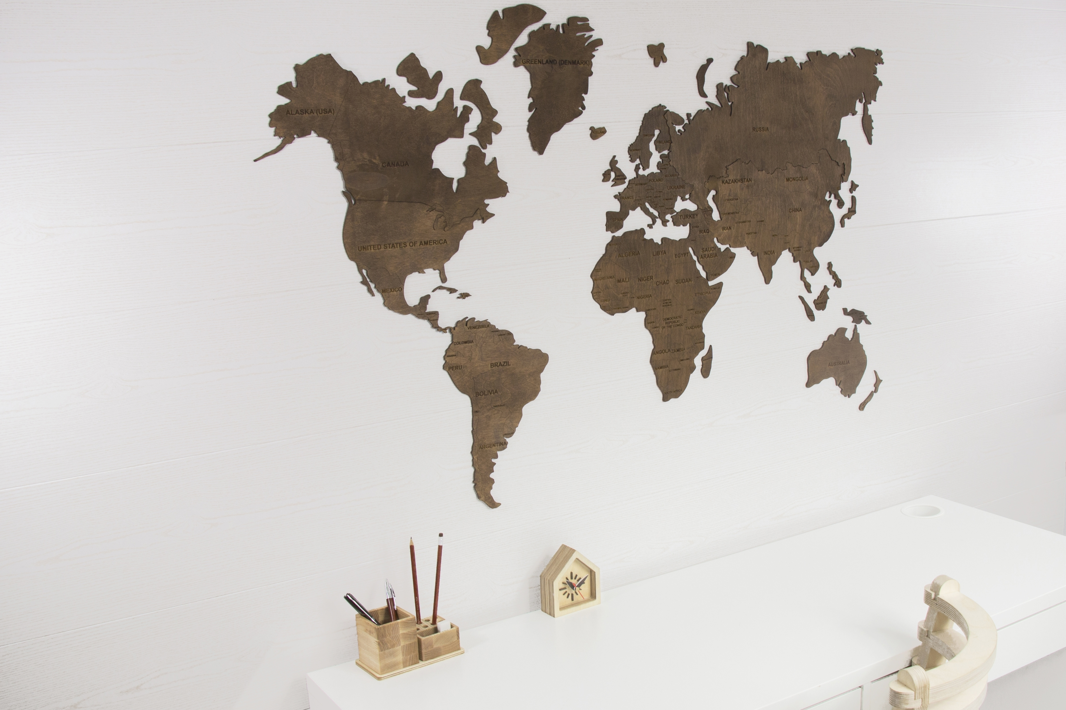 World Map Wall, World Map Hanging, World Map Wooden, World Map Wood With Regard To Wall Art World Map (Photo 13 of 20)