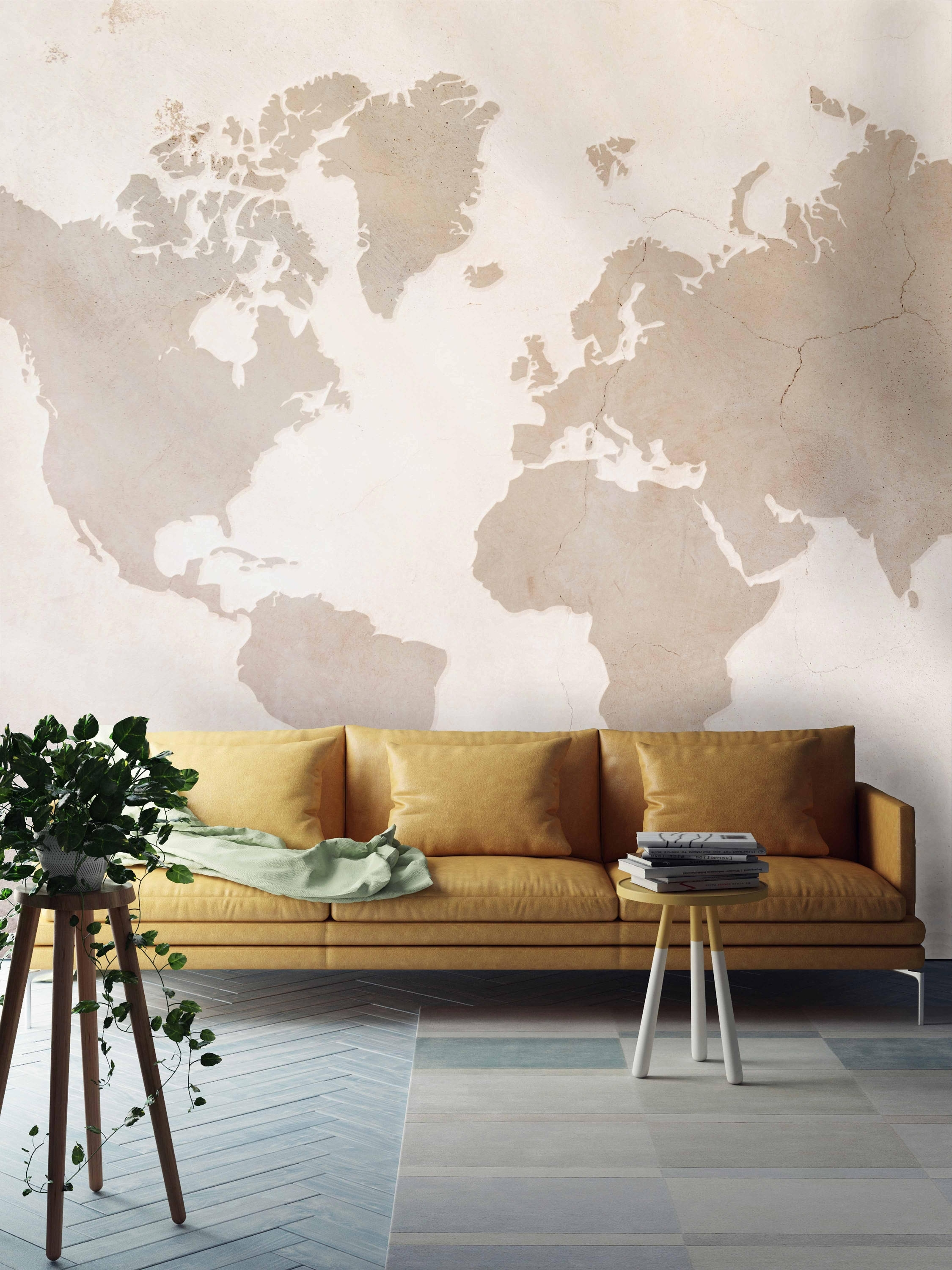 World Map Wallpaper, World Map, Map, Vintage Map, World Map Wall Art Regarding Wall Art Map Of World (Photo 19 of 20)