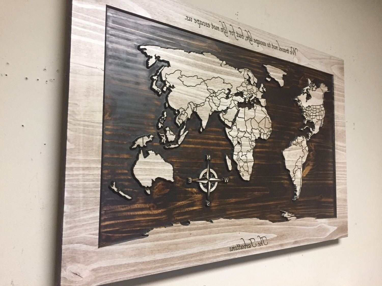 World Map Wood Wall Art – Wapsi In World Map Wood Wall Art (Photo 19 of 20)