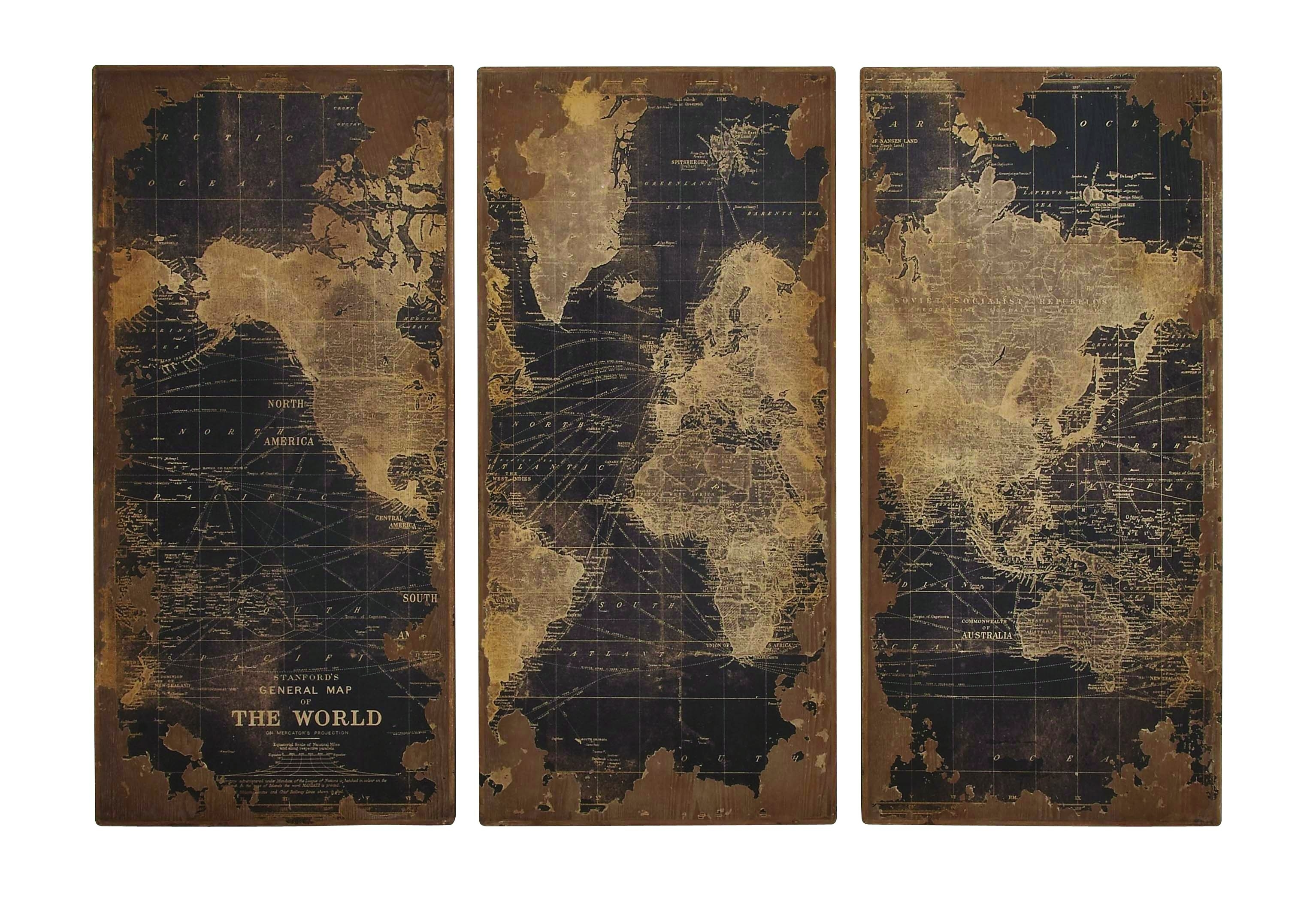 World Map Wood Wall Panels Throughout World Map Wood Wall Art (Photo 20 of 20)