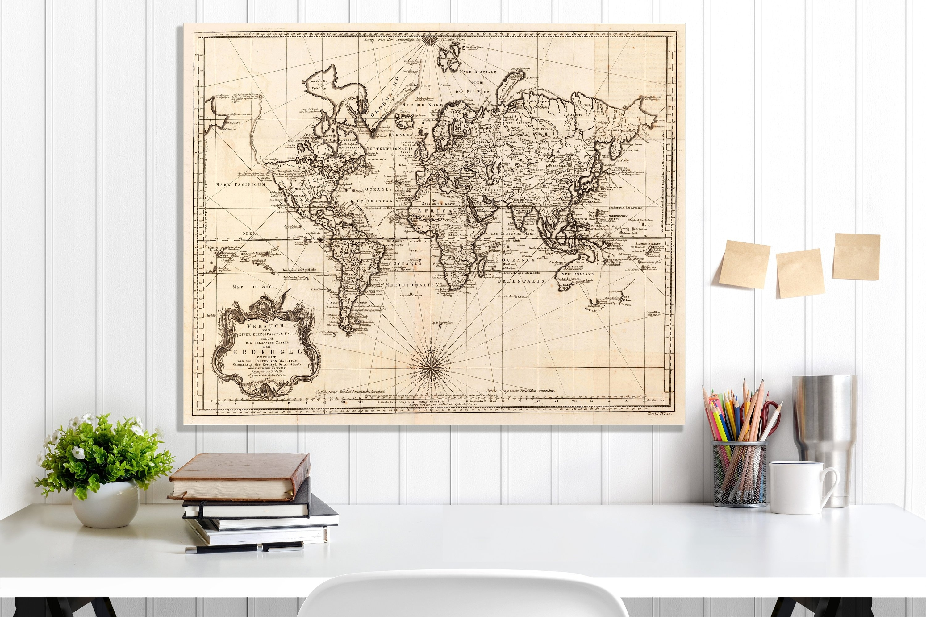 World Map, World Map Canvas, World Map Wall Art, World Map Print with regard to Vintage Map Wall Art (Image 19 of 20)