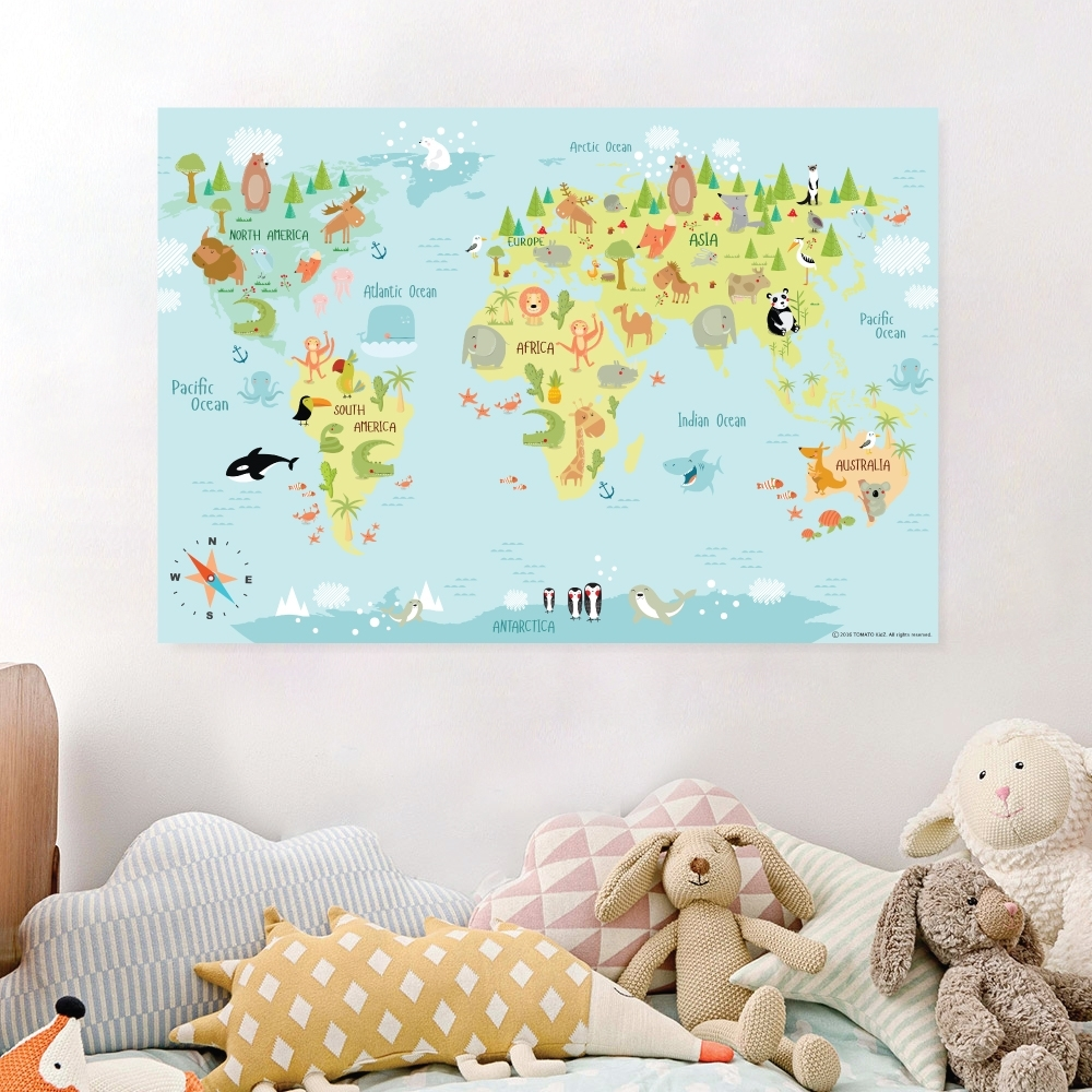World Maps Wall Art with regard to World Map for Wall Art (Image 18 of 20)