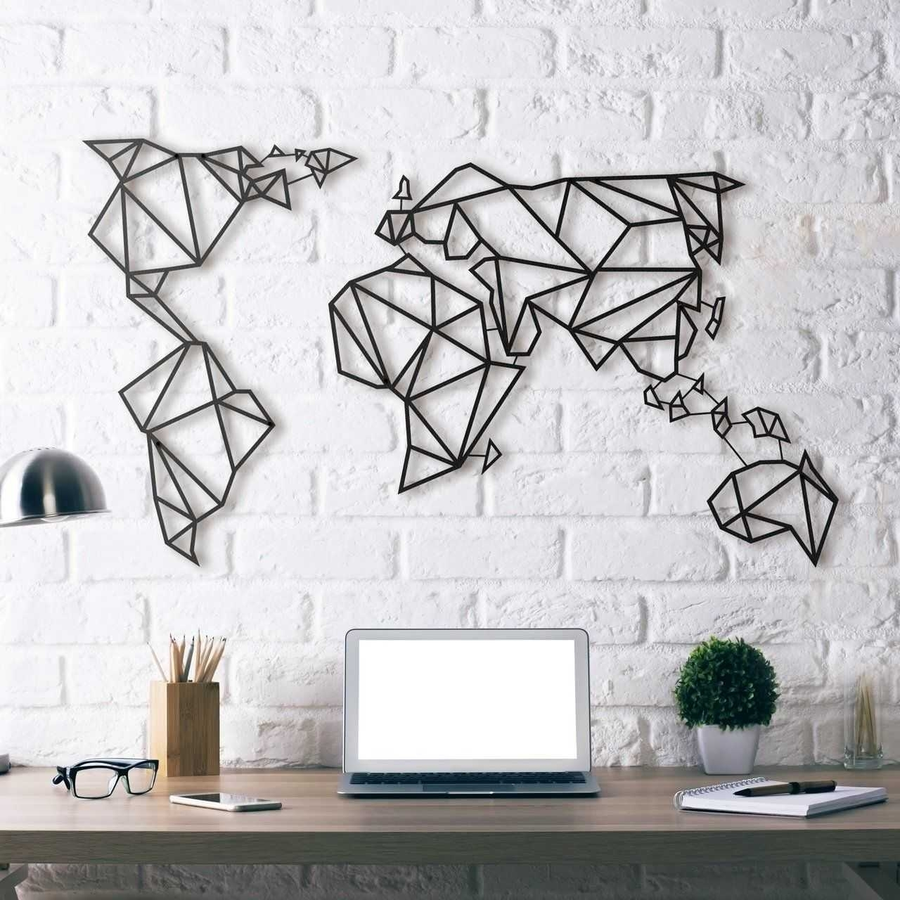 World Maps Wall Decor Pictures Oversized Map Art Stores Globe. Map Regarding Map Of The World Wall Art (Photo 19 of 20)