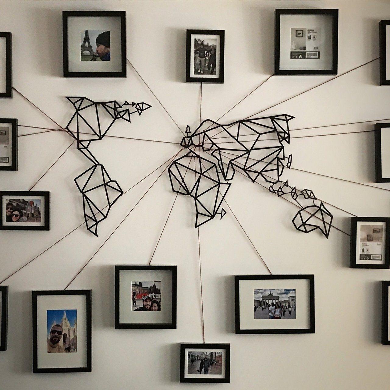 World Metal Art Https://fancy/things/1300504370575573965/world in Map Wall Art (Image 20 of 20)