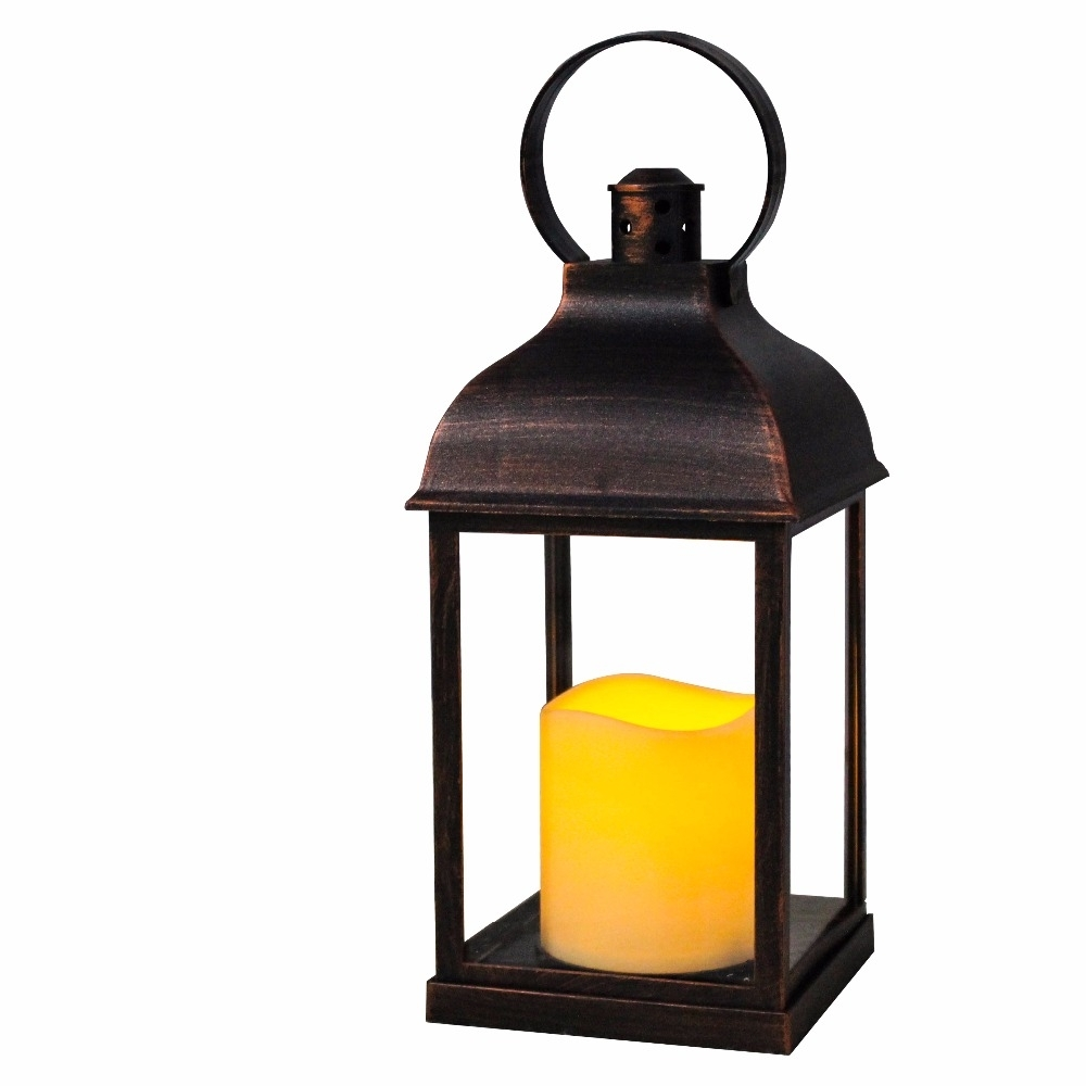 Wralwayslx Decorative Lanterns With Flameless Candles With Timer With Regard To Outdoor Lanterns With Battery Candles (View 9 of 20)