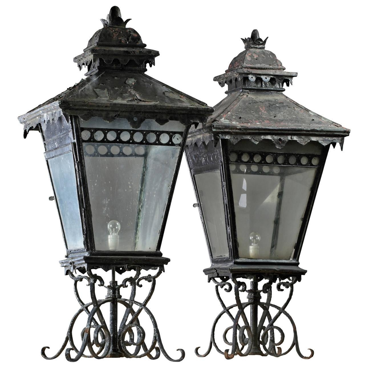 Wrought Iron Hanging Lanterns - Home Design Ideas within Outdoor Iron Lanterns (Image 19 of 20)