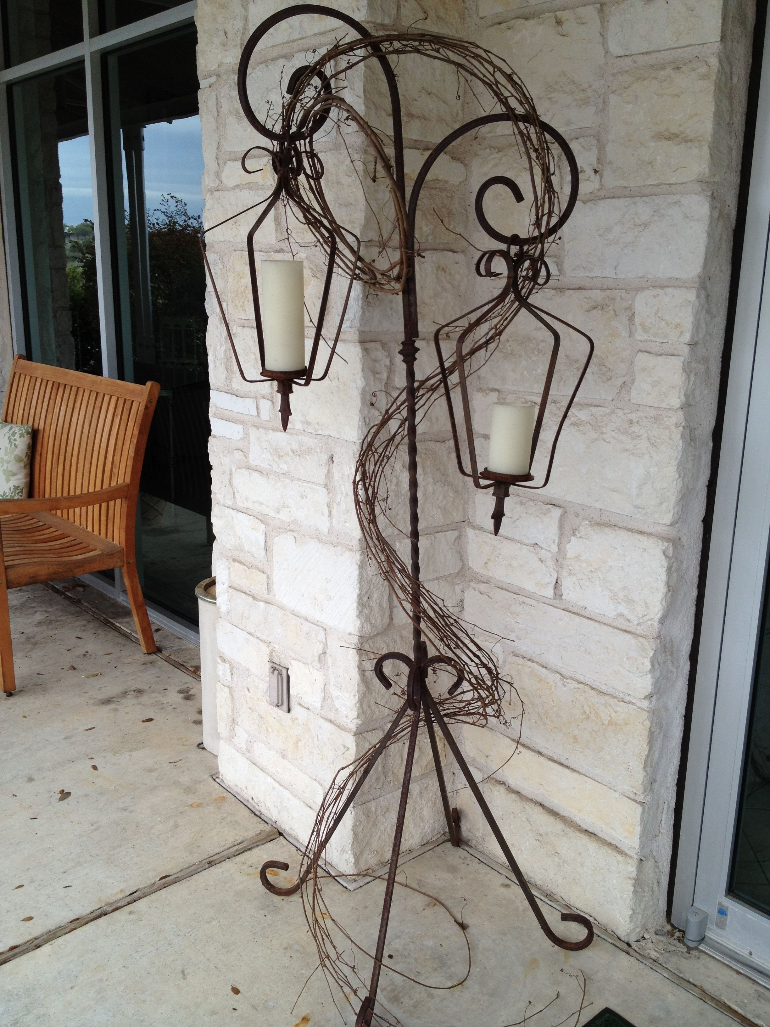 Wrought Iron Lanterns With Stands | Decorating Ideas | Pinterest Inside Outdoor Iron Lanterns (Photo 16 of 20)