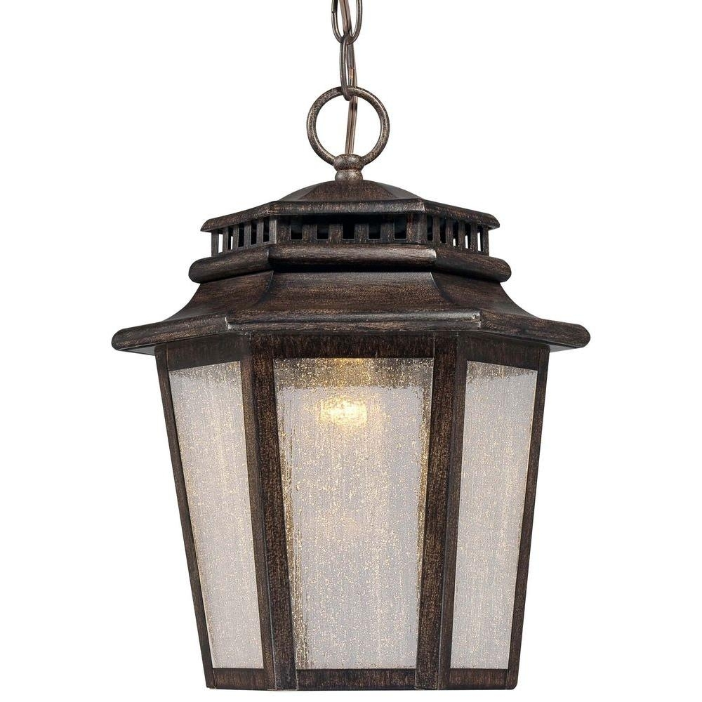 Wrought Iron - Outdoor Hanging Lights - Outdoor Ceiling Lighting in Outdoor Cast Iron Lanterns (Image 20 of 20)