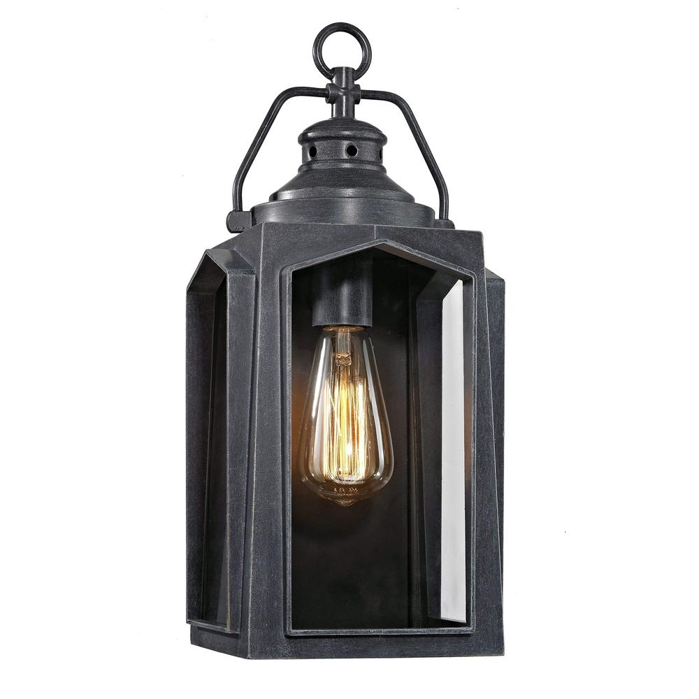 Wrought Iron - Outdoor Wall Mounted Lighting - Outdoor Lighting inside Outdoor Iron Lanterns (Image 18 of 20)
