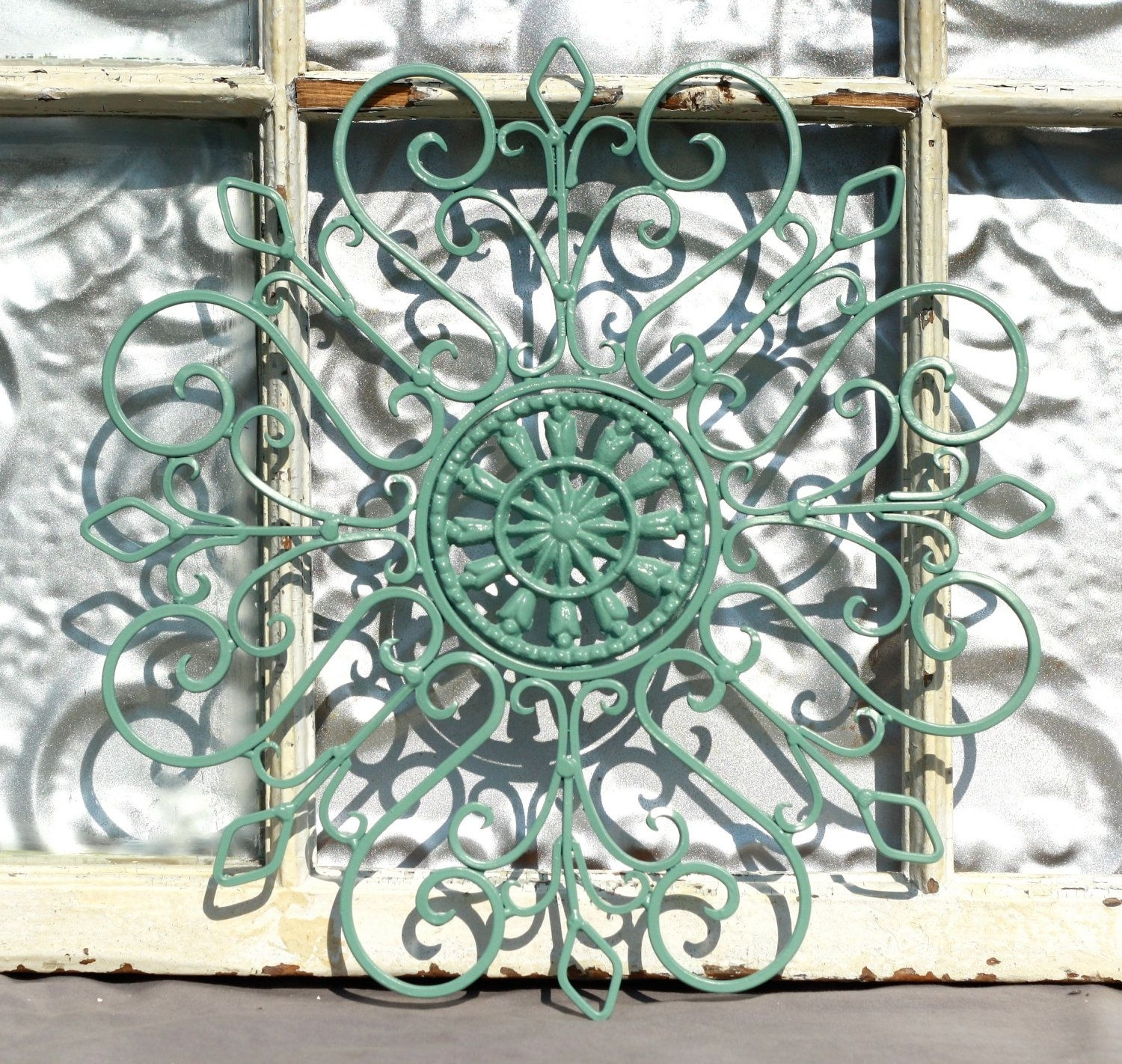 Wrought Iron Wall Decor/ Metal Wall Hanging/ Indoor/ Outdoor Metal Regarding Wrought Iron Wall Art (View 3 of 20)